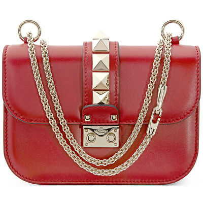 Valentino Small Glam Lock Shoulder Bag - Red