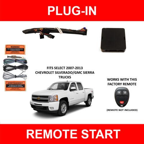 2007-2013 Chevy Silverado GM Sierra Plug & Play Remote Auto Car Start System