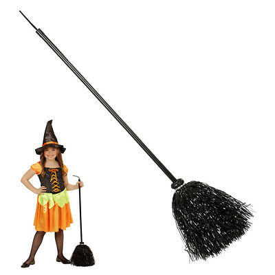 LAMETTA HEXENBESEN # Halloween Kinder Hexen Zauber Besen Kostüm Party Deko 52782 ()