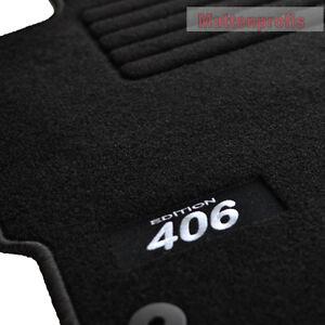 Velours logo fu matten autoteppiche f r peugeot 406 coupe ab 2004 sw ebay - Alfombras peugeot 206 ...