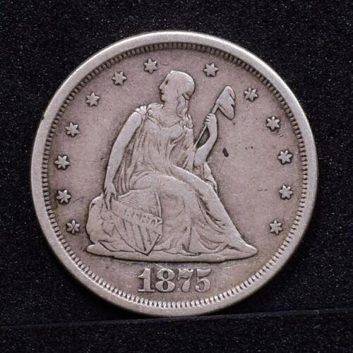 1875-S Twenty Cent Piece - VF (#29192)