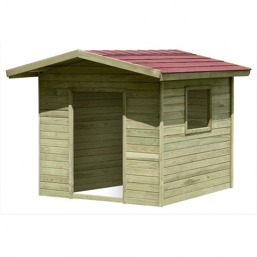 Spielhaus Lilli aus Holz 1,2x1,2 m Gartenhaus für Kinder von Gartenpirat GP1500