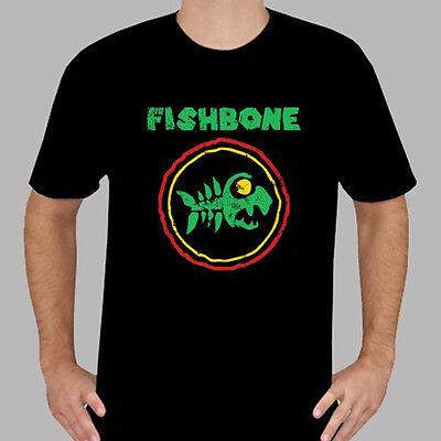 New FISHBONE American Rock Band Logo Men's Black T-Shirt Size S to 3XL
