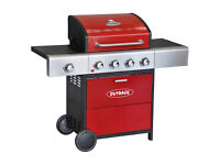 Outback Meteor 4 Burner Gas BBQ Red