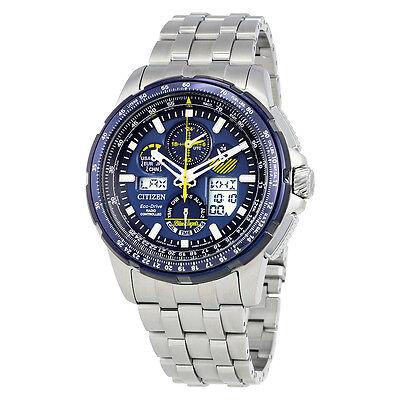 Citizen Skyhawk Blue Angels A-T Chronograph Perpetual Mens Watch JY8058-50L