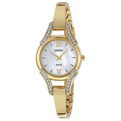*BRAND NEW* Seiko Women's Gold Tone Stainless Steel Bangle Bracelet Watch SUP216