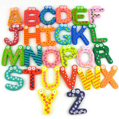 Wooden Cartoon Numbers Fridge Magnets Alphabet Letters And Numbers Toys For Kids