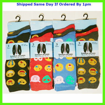 6 PAIRS MENS LAD FUN THEMED MULTI COLOUR EVERYDAY SOCKS SIZE 6-11 SMART (Orange And Blue Color Mix)