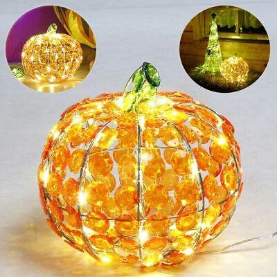 is 40 LED Ø26 cm beleuchtet für Garten außen Fenster Strom (Kürbis Für Halloween)