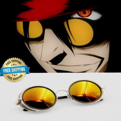 US HELLSING Alucard Vampire Hunter Tailored Dark Cosplay Glasses Sunglasses Prop