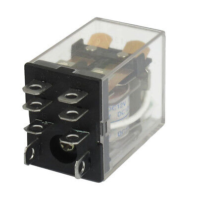 Jqx-13f Ly2 Dc 12v Coil 8-pin Dpdt Green Led Electromagnetic Relay Ts