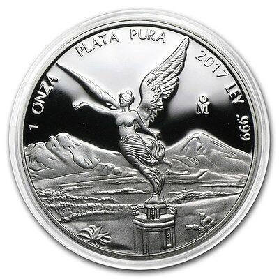 *SALE* PROOF LIBERTAD - MEXICO - 2017 1 oz Proof Silver Coin in Capsule