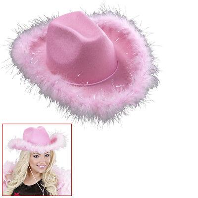 ROSA COWGIRL HUT Karneval Junggesellenabschied Cowboy Damen Kostüm - Rosa Cowgirl Kostüme