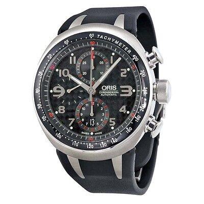 Oris TT3 Chronograph Automatic Black Carbon Dial Mens Watch 674-7587-7264RS