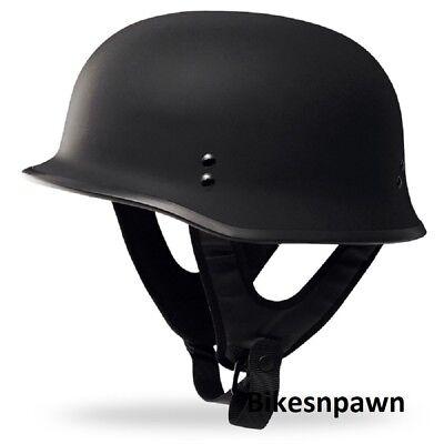 New 2XL Flat Black Fly Racing DOT Approved German Beanie STyle Motorcycle Helmet Dot Approved German Helmet