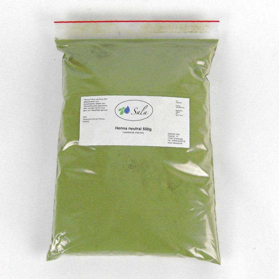 (15,98/kg) KS Sala Henna Pulver Haarfarbe natürliche Haarpflege neutral 500 g
