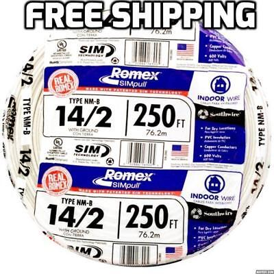 Romex 250 Roll 14 2 Awg Guage Nm B Indoor Electrical Copper Wire Cable W Ground