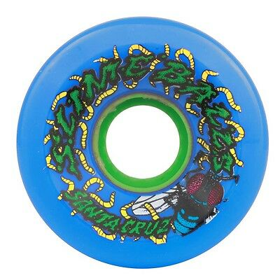 Santa Cruz Slime Balls Maggots Skateboard Wheels 60Mm 78A Blue