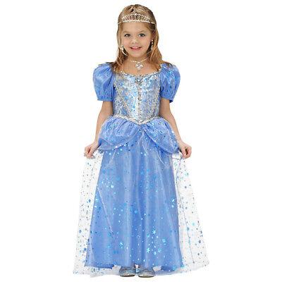 PRINZESSIN KOSTÜM KINDER Karneval Fasching Fee Zauberin Kleid Blau Mädchen  - Blaue Fee Kostüm Kind