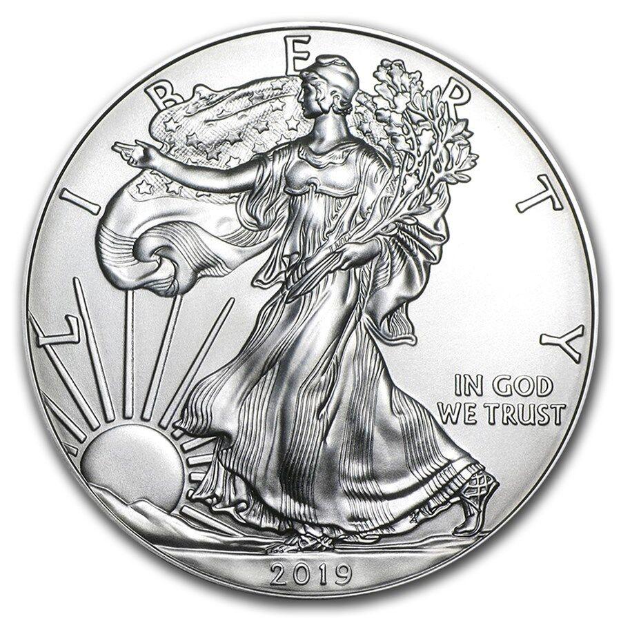 etats-unis 1 dollar argent 1 once silver eagle 2019