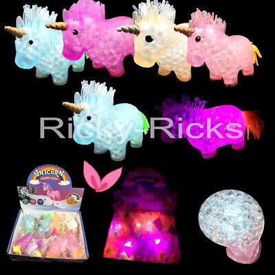 12 Light Up Unicorn Mesh LED Squishes Surprise Squeeze Unicornio Party Favors](Led Light Up)