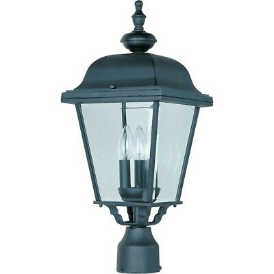 - Maxim Builder Cast 3-Light Outdoor Pole/Post Lantern Black - 3008BK