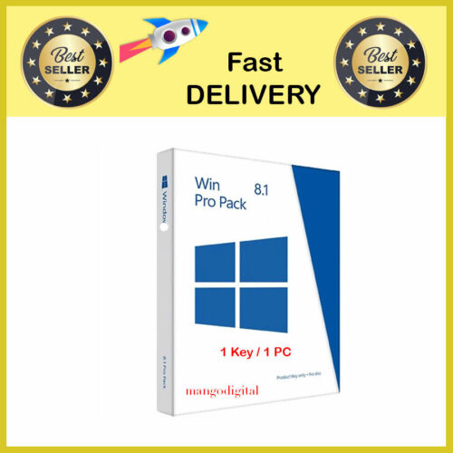 W!N 8.1 PRO PROFESSIONAL KEY 32/ 64 BIT ACTIVATION LICENSE KEY - Fast Delivery