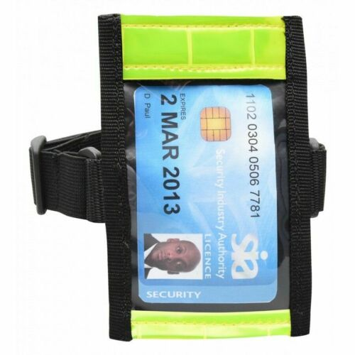 High Visibility SIA Badge Holder ID Card Security Arm Guard Bouncer Door Staff