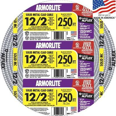 Southwire Armorlite 250 122 Solid Aluminum Mc Cable Wire Exposedconcealedwet