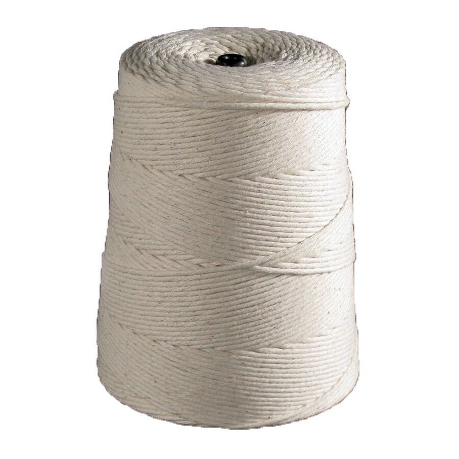White Butchers / Baking Twine String - 2 lb. Cone - 3 Ply to 36 Ply Poly Cotton