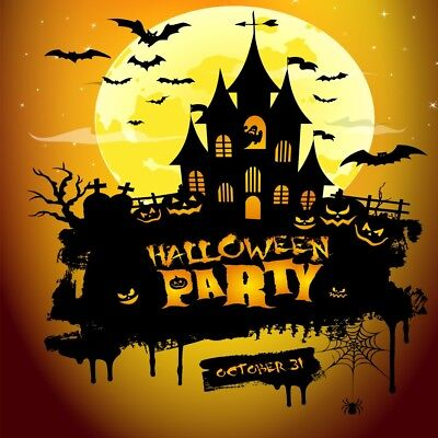 Halloween Background Ghost (Halloween Party Background Ghost Tomb Props 6x6ft Haunted House Backdrop)
