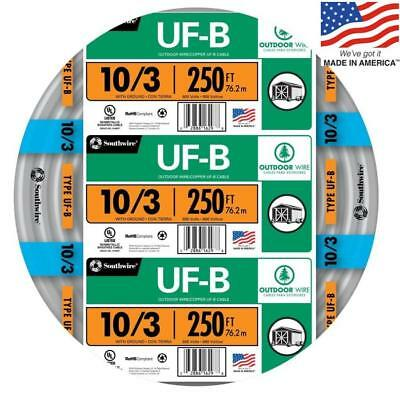 Southwire 250 10-3 Uf Wire By The Roll 13059155