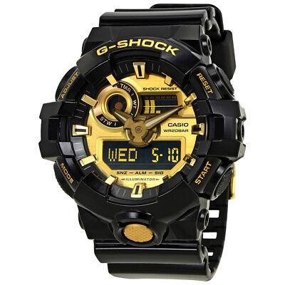 Casio G-Shock Gold-Tone Dial Black Resin Mens Watch GA-710GB-1ACR