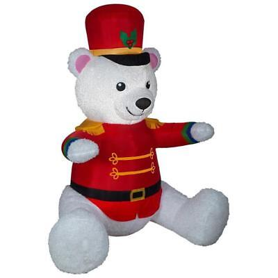 7ft Teddy Bear Nutcracker Santa Christmas Inflatable Brand New](7 Ft Teddy Bear)