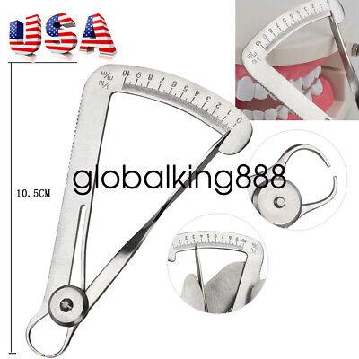 Stainless Steel Dental Lab Wax Metal Crown Gauge Caliper Ruler Dental Instrument