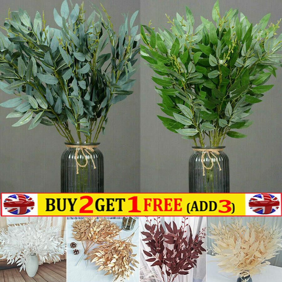 Home Decoration - Artificial Fake Silk Flower Leaf Plant Eucalyptus Wedding Xmas Wreath Home Decor