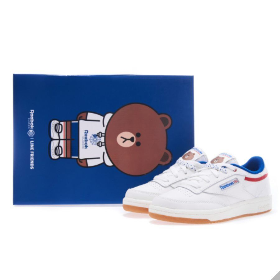 04515f5aac06 Line Friends x Reebok Club C Kids Shoes Athletic White Pink Blue DV3719  DV3720 Item Number  183237218799