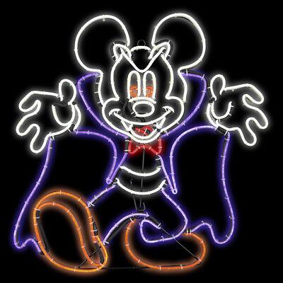 Halloween Haunted Disney 1.96 ft Tall LightGlo Mickey Mouse Vampire Sculpture