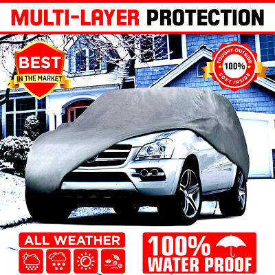 Multi Layer Genuine Waterproof SUVVan Cover for Auto Car Protect All Weather XL