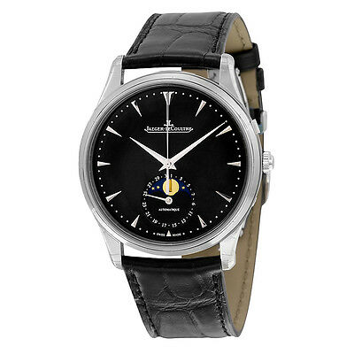 Jaeger LeCoultre Master Ultra Thin Moon Automatic Black Dial Mens Watch Q1368470