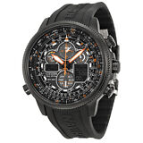 Citizen Navihawk A-T Black Dial Black Rubber Mens Watch