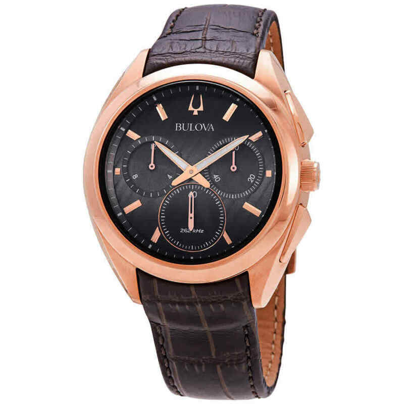Bulova-CURV-Collection-Chronograph-Quartz-Brown-Dial-Men-Watch-97A124