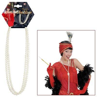 CHARLESTON PERLEN KETTE # 20er Jahre Party Schmuck Perlenkette Kostüm Party 5019