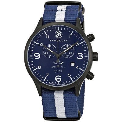 Brooklyn Watch Co. Bedford Brownstone Chronograph Blue Dial Men's Watch