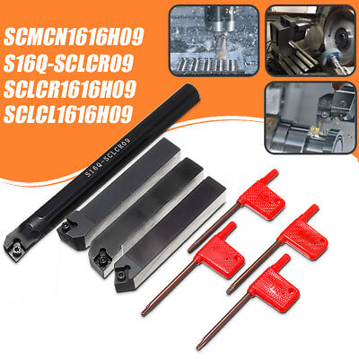 4 Set Of 16mm Lathe Cnc Boring Bar Turning Tool Holder For Ccmt09t3 Insert Blade