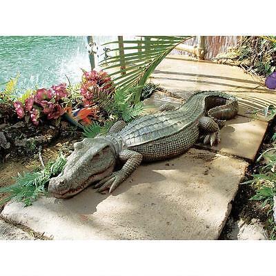 Alligator Pond (Alligator Sculpture Home Garden Pond Crocodile Outdoor Gator Decor)