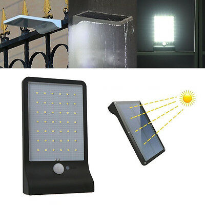 Waterproof 42 LED Solar Power Motion Sensor Security Light Outdoor Garden Lamp