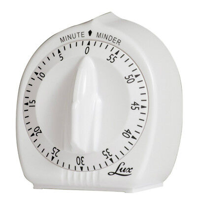 Lux 60 Minute Timer - Lux Minder CP2428-59 60-Minute Cooking Timer, White
