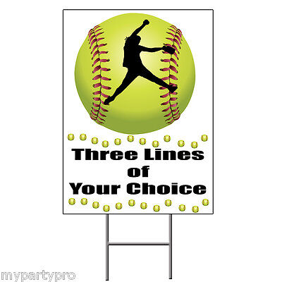 FASTPITCH SOFTBALL PERSONALIZED YARDSIGN Party Supplies FREE SHIPPING