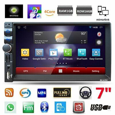 "Android 6.0 Car Stereo GPS Navigation Radio Player Double Din WIFI 7"" MP5 Player"